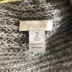 Chico's Sweaters - Chicos Waterfall Open Front Long Sleeve Cardigan